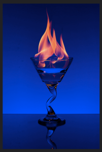 Flaming Martini 2 by Jeff